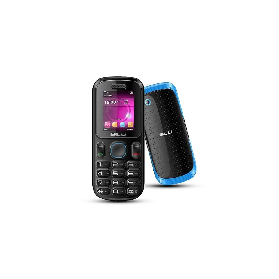 BLU T190b Unlocked GSM Mobile Phone with Dual Sim and GSM Dual Band 850/1900 Black/Blue Cell Phones & Accessories