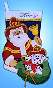 Felt Stocking, Fireman, 18 inches