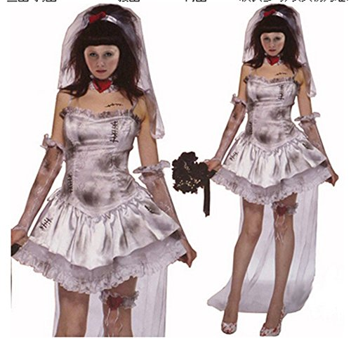 Lady Favorite Halloween Costume Vampire Corpse Bride Witch Princess Fancy Dress