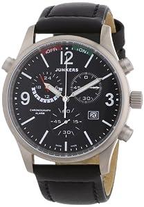 Junkers Herren-Armbanduhr XL Flugweltrekorde G38 Chronograph Quarz Leder 62962