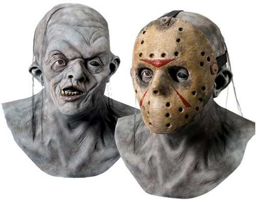 Jason Friday 13th Latex Mask Removeable Hockey Mask