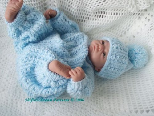 Baby Pram Set Knitting Pattern 38 UK