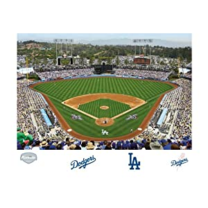 Sports outdoors fan shop home kitchen d cor wall banners for Dodger stadium wall mural
