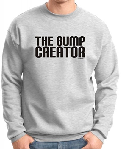 The Bump Creator Premium Crewneck Sweatshirt Small Ash front-842810