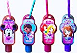 Children's Scented Hand Sanitizers Pack of 4 Disney Themed Hand Sanitizers Sofia the First , Minnie, Doc Mc Stuffins, Disney Princess