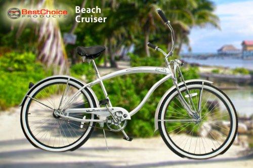 "New Micargi 26"" Mens Bike Beach Cruiser Bicycle Rover GTS Silver"
