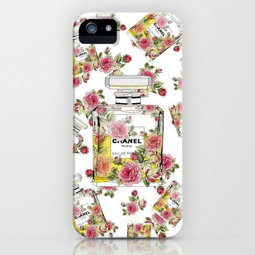 [ソサエティシックス] Society6 iphone 5 / 5S ケース 各種[並行輸入品] (Floral Bottle Chanel 5 White)