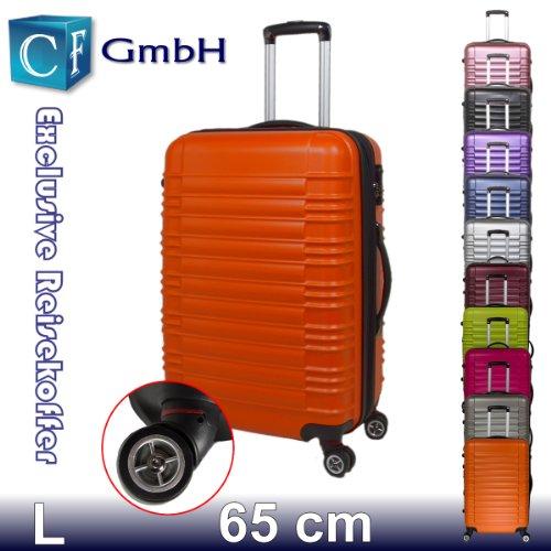 LG2088 Orangen in Größe L Koffer Reisekoffer