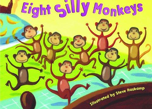 Bendon Publishing Eight Silly Monkeys Mini Board Book