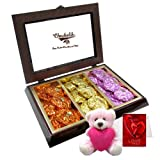 Delicious Collection Of Rocks With Teddy And Love Card - Chocholik Luxury Chocolates