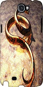 Snoogg Snake Designer Protective Back Case Cover For Samsung Galaxy Note 2