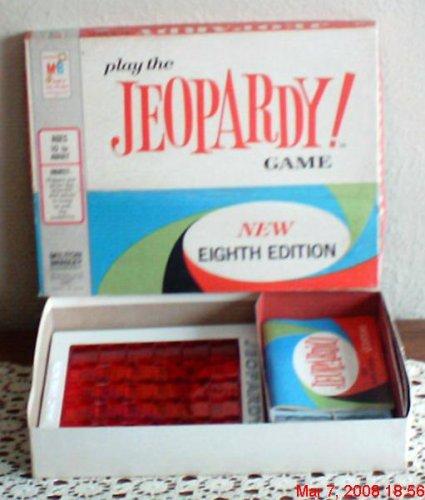 Vintage Jeopardy Game Milton Bradley 1964 - 1