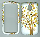 White Dot Tree Faceplate Hard Case Protector for Lg Thrive P506 At&t