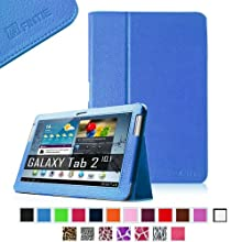 Fintie Slim Fit Folio Case Cover For Samsung Galaxy Tab 2 10.1 Inch Tablet - Blue