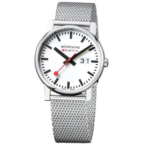 MONDAINE - A6273030311SBM - Montre Homme - Quartz - Analogique - Bracelet Acier Inoxydable Argent