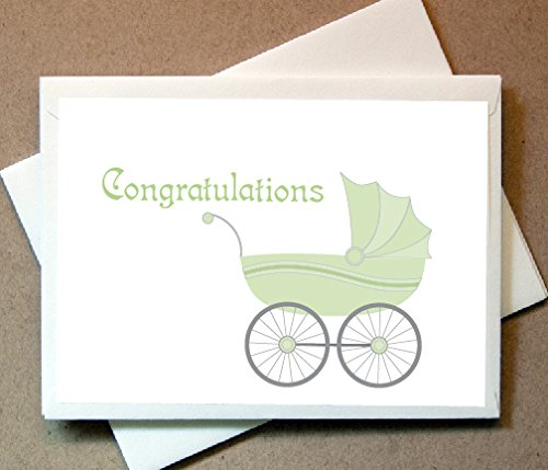 Baby Congratulations Greeting Cards (24 Foldover Cards and Envelopes)