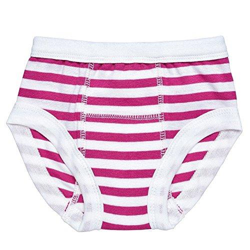 Egyptian Organic Cotton Print Training Pants, Fuschia Stripe, 12-24 Months Alpine Stripe