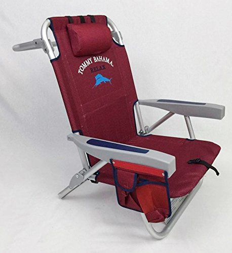 2 Tommy Bahama Backpack Beach Chairs 2016 Red Furniture
