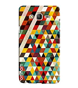 Omnam pyramid Pattern printed light design triangular back cover For Samsung Galaxy On 5