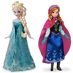 Disney USディズニー公式アナと雪の女王 Frozen フローズンアナとエルサ Anna Elsaフィギュア2体セット ドール 人形 グッズ