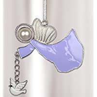 In Loving Memory Ornament Angel with White Dove and Heartfelt Poem on Gift Box