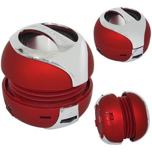 Skque Portable Wireless Mini Hamburger Bluetooth Speaker With Microphone, Red