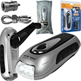 XT Power Hand Crank Flashlight and Cell Phone Charger