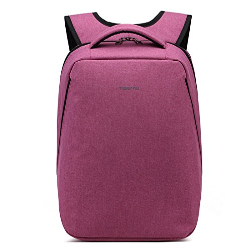 Yacn Slim Laptop Backpack Computer Backpack Bags Travel Backpack for Business -Fits Up to 14.1 inch Notebook (Purple)