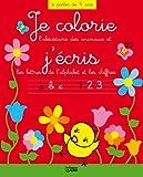 Colorie ecris lettres alphabet et chiffres : le poussin...