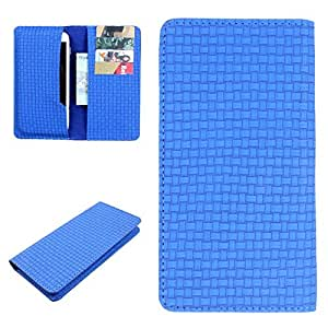 DooDa PU Leather Case Cover For Micromax Canvas Fun A76 (Blue)