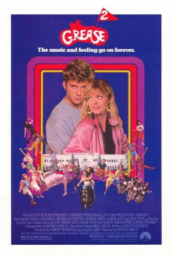 grease 2 poster b 27x40 maxwell caulfield michelle