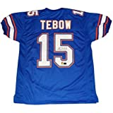 Tim Tebow Autographed Florida Gators (Blue #15) Custom Jersey - Tebow Holo at Amazon.com