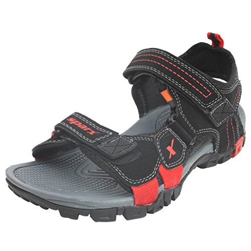 SPARX-Black-Red-Sandals-Size-6x10-SS439