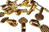 30 Gold Tone Heart Shaped Glue on Jewelry Bails Connectors 12x10mm