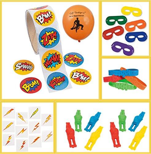 Superhero Party Favors Bundle Kit Pack Enough For 12 Boys Or Girls
