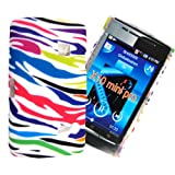 For Sony Ericsson Xperia X10 Mini Pro Stylish Multi Zebra Printed Stylish Hard Shell Protected Case Cover Mobile Extra LtdTM