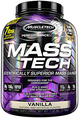 Muscletech Mass-Tech - Vanilla, 1er Pack (1 x 3.2 kg)