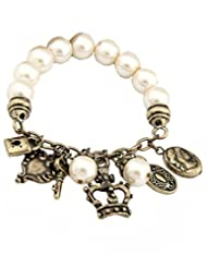 Young & Forever Navratri & Diwali Special Swiss Bronze With Cute Charms Bracelet For Women By CrazeeMania