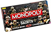 Amazon.com: New Orleans Saints Super Bowl XLIV Champions Monopoly: Toys & Games
