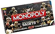 Amazon.com: New Orleans Saints Super Bowl XLIV Champions Monopoly: Toys & Games