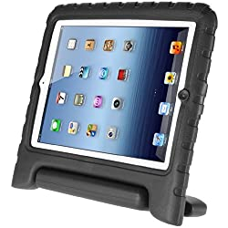 Greatshop® for Apple Ipad Mini with Retina Display (2nd Generation) Armorbox Kido Series Light Weight Super Protection Convertible Stand Cover Case (Black)