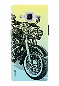 Noise Designer Printed Case / Cover for Samsung Galaxy J2 Pro - 6 (New 2016 Edition) / Automobiles / Bike Design
