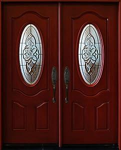 Exterior Front Entry Double House Fiberglass Door M800a 30 X 80 X2 Dbl