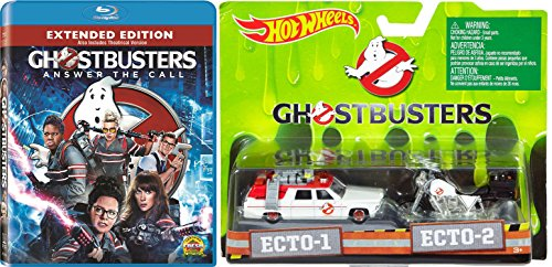 Ghostbusters: Answer the Call (Extended Edition) Blu-ray with Hot Wheels New Ghostbusters Ecto 1 & Ecto-2 Motorcycle 2-Car Die Cast Set