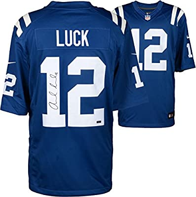 Andrew Luck Indianapolis Colts Autographed Blue Nike Limited Jersey - Panini - Fanatics Authentic Certified