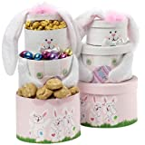 Art of Appreciation Gift Baskets   Somebunny Special Easter Bunny Tower, Pink