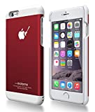 motomo 正規品 INO METAL CASE BR3 for iPhone 6 (iPhone6(4.7), レッドホワイト)