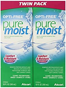 Opti-Free Puremoist Multi-Purpose Disinfecting Solution 20 Ounce