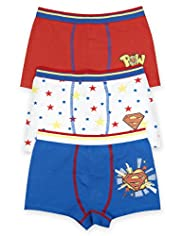 3 Pack Cotton Rich Assorted Superman™ Trunks