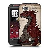 Head Case Designs Red-scaled Dragons Hard Back Case Cover for HTC Sensation XE Sensation